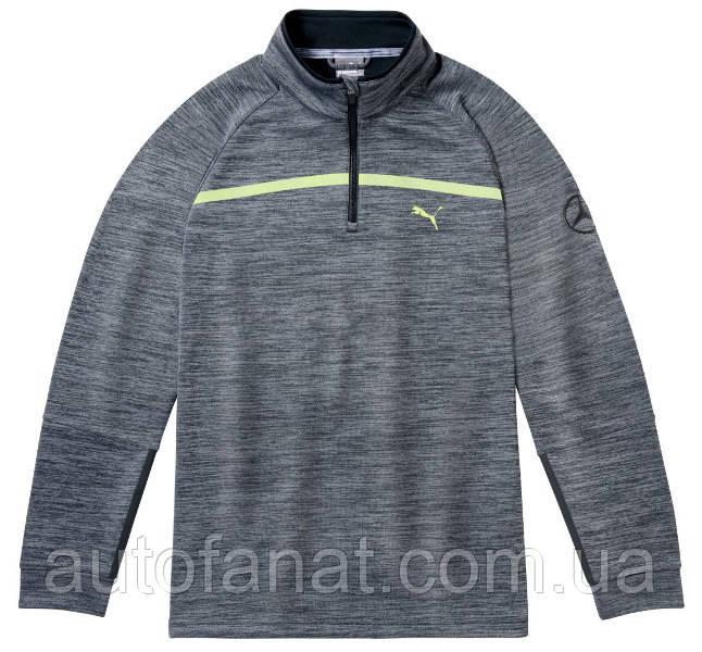 Оригинальный мужской свитер Mercedes-Benz Men's Golf Sweater, Grey, by PUMA (B66450312)