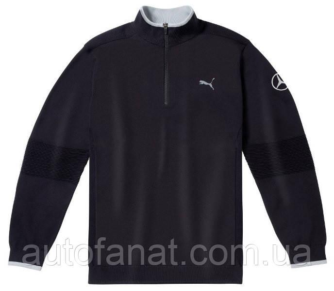 Оригинальный мужской свитер Mercedes-Benz Men's Golf Sweater, Black, by PUMA (B66450296)