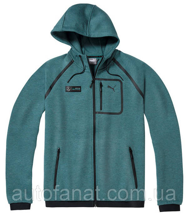 Мужская толстовка Mercedes AMG Petronas F1 Men's Sweat Jacket, Green