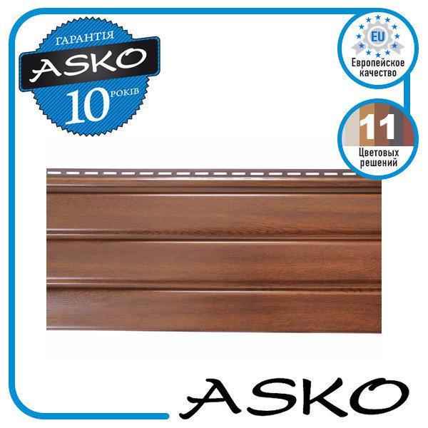 Панель софит ASKO без перфорации 3,5м., 1,07м. кв./полоса. Цвет: Орех