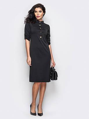 (S, M, L, XL, XXL) Класичне чорне плаття Fridia