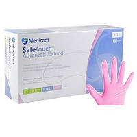 Нитриловые перчатки SafeTouch® Extend Pink без пудры (розовые)