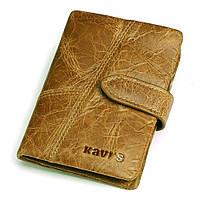 Мужской кошелек из натуральной кожи. Кожаный кошелек мужской портмоне из кожи Светло-коричневый, фото 1