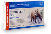 Медвежий жир обогащенный 120 капсул по 0,3 г., Сустамед