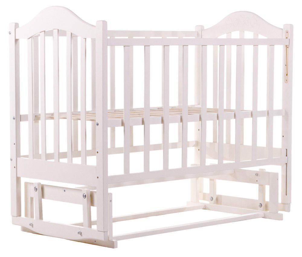 Детская кроватка BabyRoom Дина D201 маятник береза белая