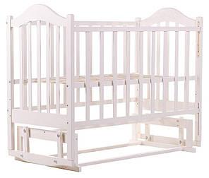 Детская кроватка BabyRoom Дина D201 маятник береза белая, фото 2
