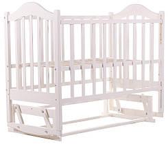 Детская кроватка BabyRoom Дина D201 маятник береза белая, фото 3