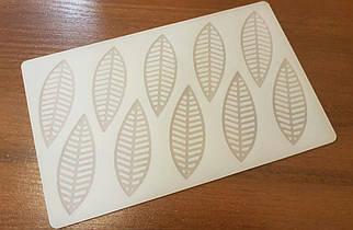 """Силиконовая форма для шоколада """"Листья"""" 1 шт."""