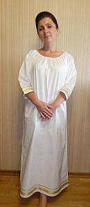 """Рубашка для крещения, для взрослых. Модель """"Rebekah Gold"""" (""""Ревекка золото"""")"""