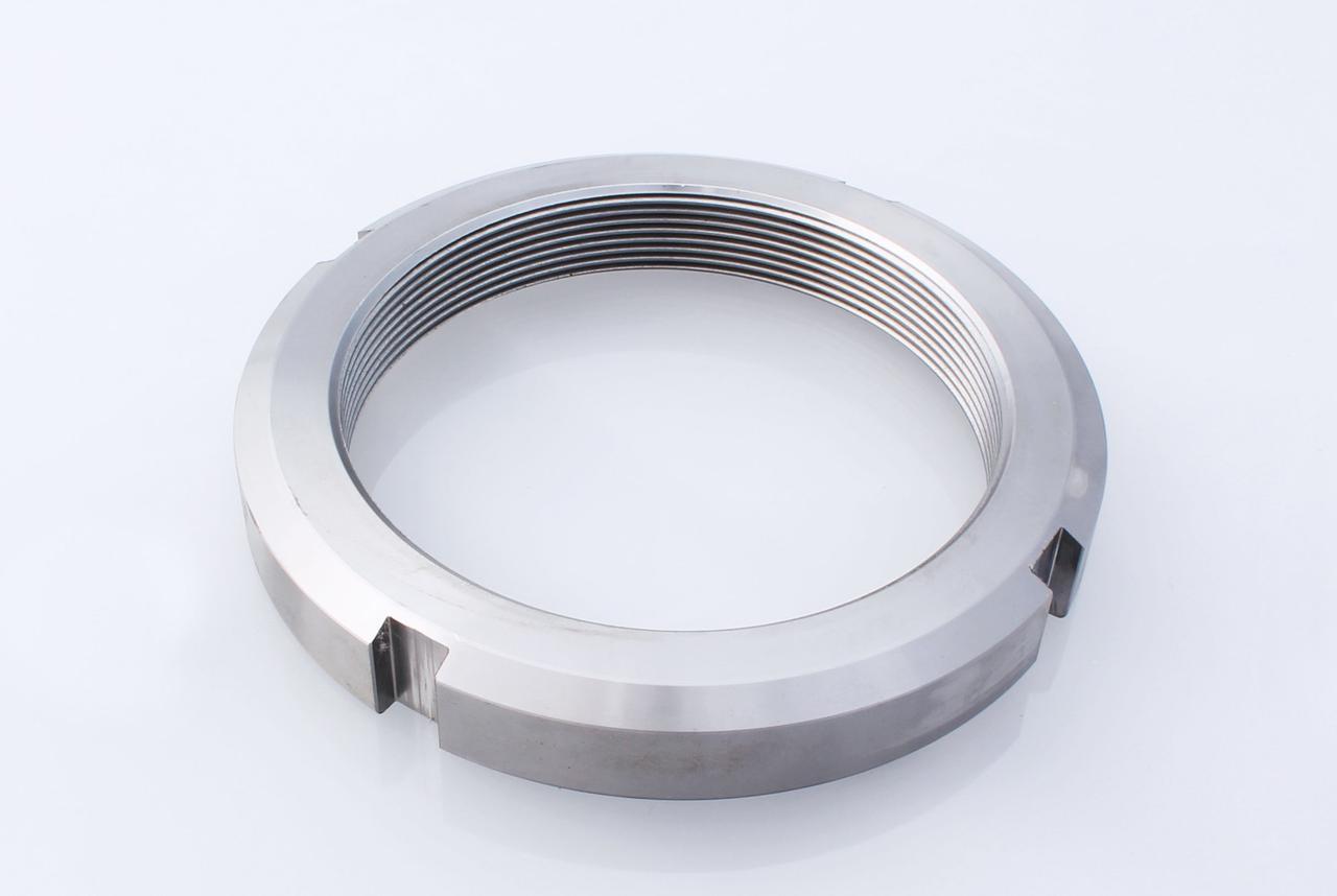Гайка круглая шлицевая из нержавейки М50х1,5 DIN 981, ГОСТ 11871-88