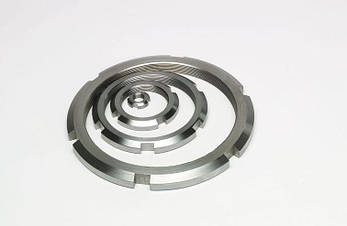 Гайка кругла шлицевая з нержавійки М50х1,5 DIN 981, ГОСТ 11871-88, фото 2