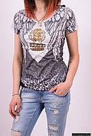 Футболка женская Roberto cavalli (Cotton 95%,Lycra 5%) Размеры в наличии : 42,44,46,48 арт.8880