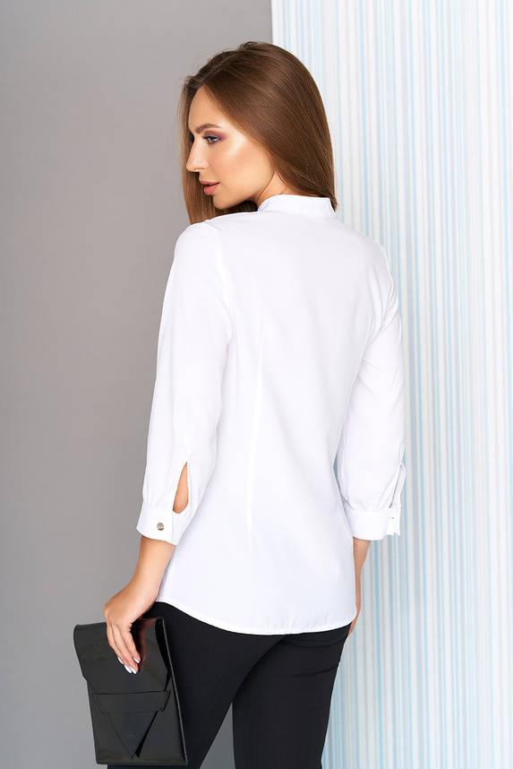 Белая блузка с воланом на пуговицах, фото 2