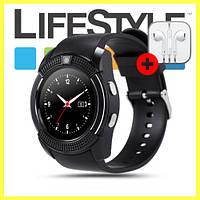 Умные смарт-часы Smart Watch умные часы Lemfo V8 Black + Подарок Apple!