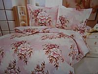 Купить постельное полуторное бельё из жатки