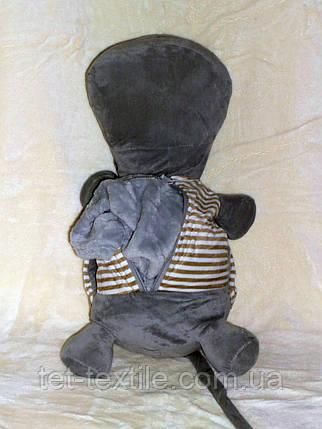 Плед - мягкая игрушка 4 в 1 (Бегемотик в кофейной тельняшке), фото 2