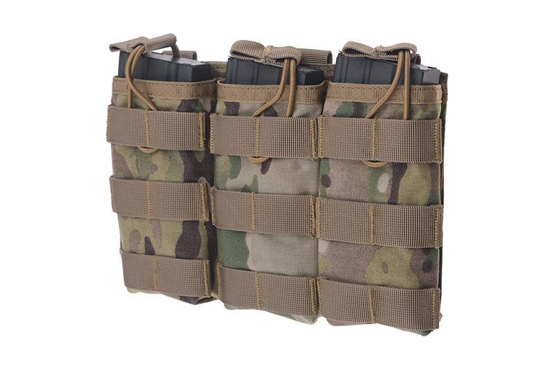 Тройной подсумок Open I для магазинов AK/M4/G36 - Multicam® [Primal Gear] (для страйкбола)