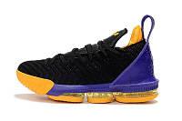 Баскетбольные кроссовки Nike Lebron 16 black-yellow-violet