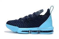 Баскетбольные кроссовки Nike Lebron 16 blue