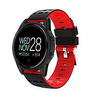 Фитнес браслет R13 цветной дисплей тонометр давления крови для iPhone Android трекер пульсометр черно красный