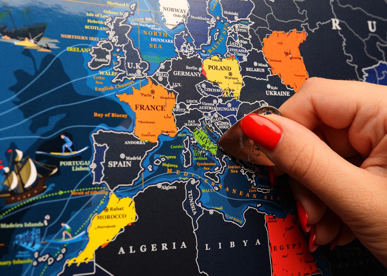 Морская скретч карта мира ENG