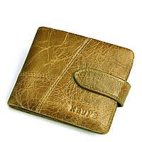 Кошелек портмоне мужской кожаный  горизонтальный (светло-коричневый), фото 1
