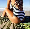 Сексуальный монокини купальник Полоски, фото 2