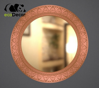Зеркало настенное Lahore в бронзовой раме R3