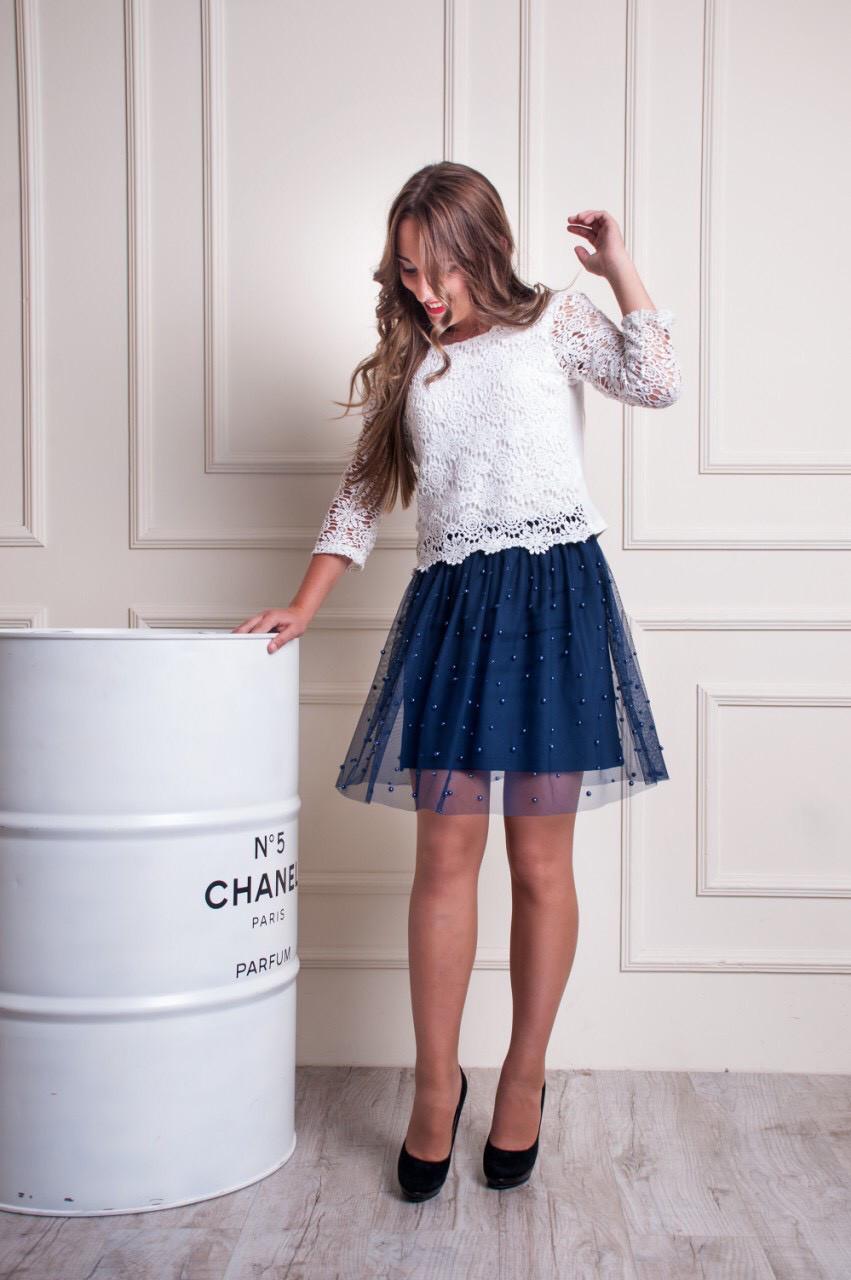 Женская юбка с фатином