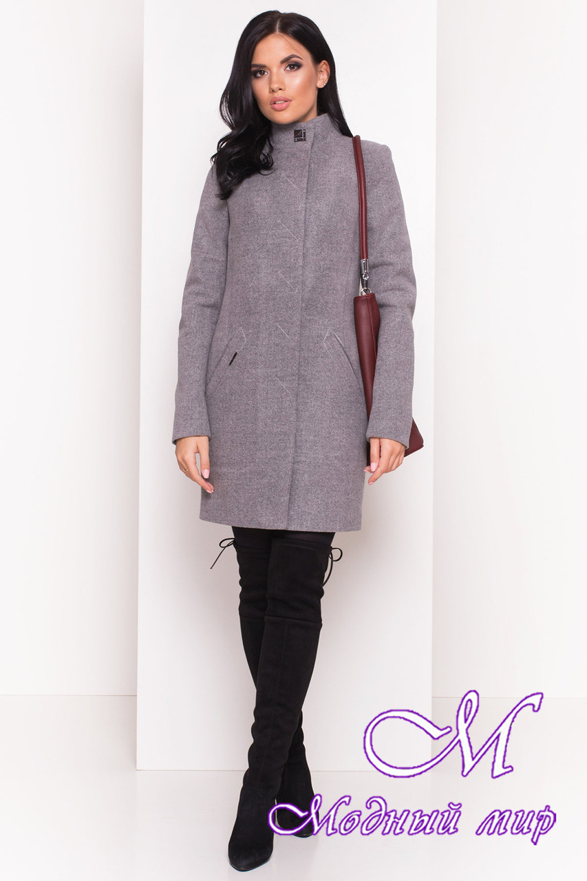 Демисезонное женское пальто из кашемира (р. S, M, L) арт. Люцея 5428 - 36723