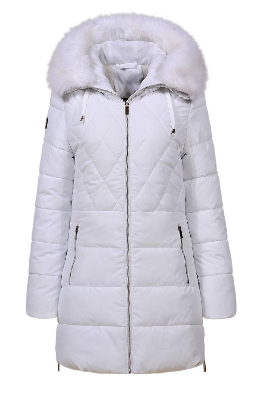 Оригинал Куртка/Парка Женская GloStory AW18 WMA-6528 White Белая с Мехом