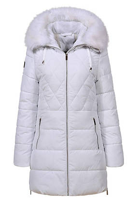 Оригинал Куртка/Парка Женская GloStory AW18 WMA-6528 White Белая с Мехом, фото 2