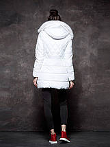 Оригинал Куртка/Парка Женская GloStory AW18 WMA-6528 White Белая с Мехом, фото 3