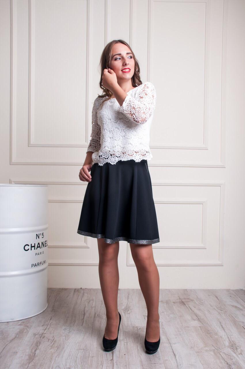 Молодежная юбка с карманами