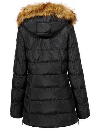 Оригинал Куртка/Парка Женская GloStory AW18 WMA-6540 Black Черная с мехом , фото 2