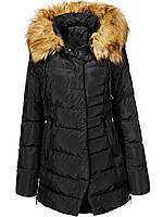Оригинал Куртка/Парка Женская GloStory AW18 WMA-6540 Black Черная с мехом