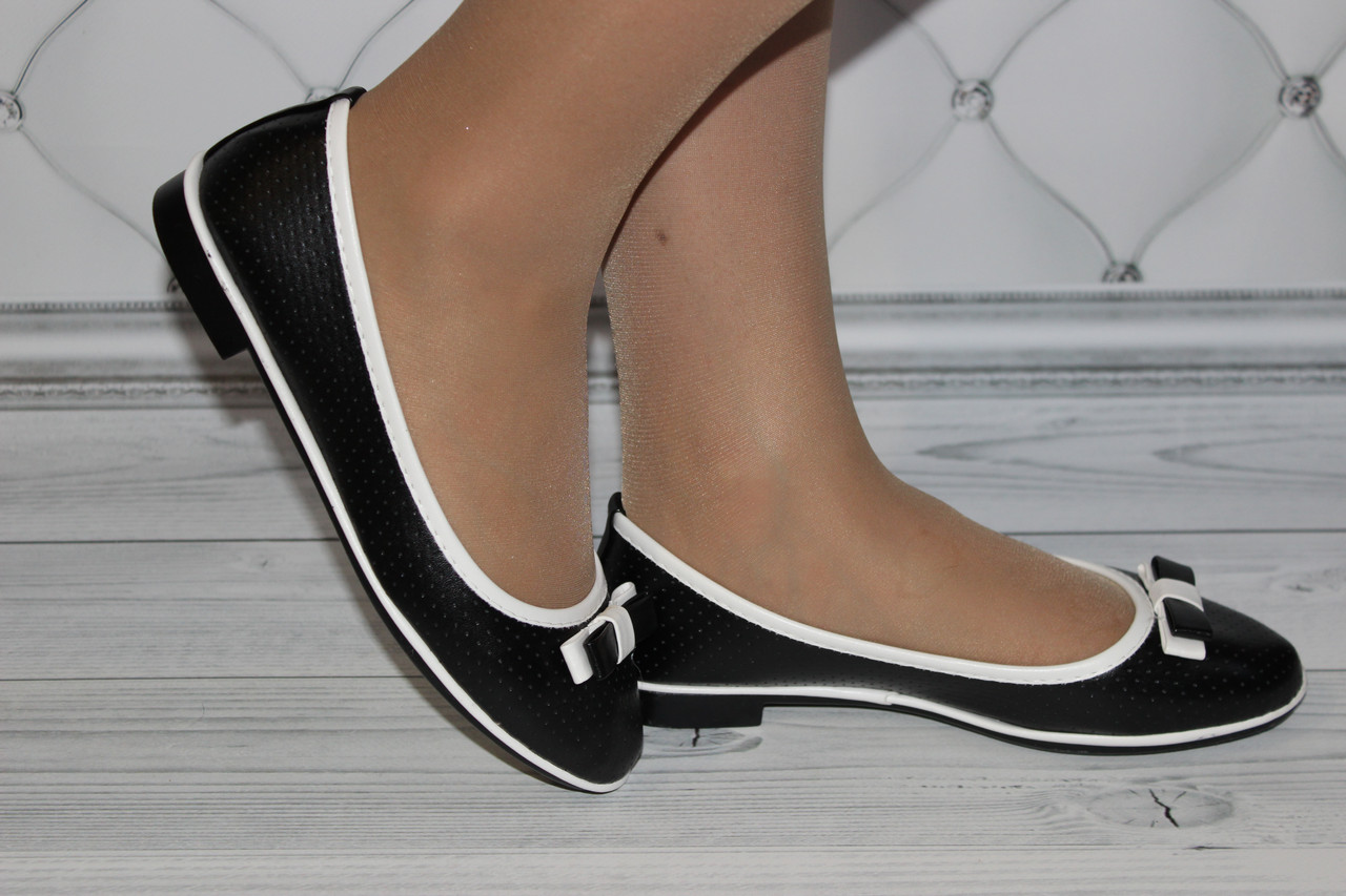 Женские балетки черного цвета размер 38