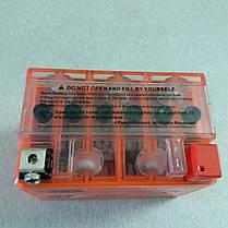 Аккумулятор 12V 4А гелевый (оранжевый), фото 3