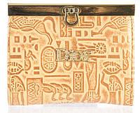 Маленький женский кожаный кошелек высокого качества art.CD-55809 В золотой, фото 1