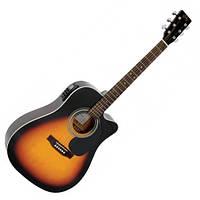 Акустическая гитара с вырезом и подключением SX MD180CE/VS