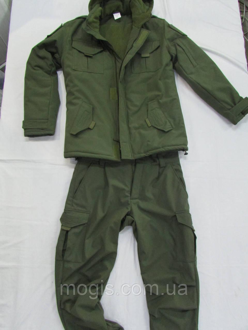 Костюм утепленный серии Антитеррор (Куртка и брюки) из ткани совтшел олива