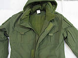 Костюм утепленный серии Антитеррор (Куртка и брюки) из ткани совтшел олива, фото 5
