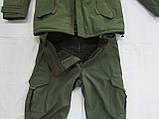 Костюм утепленный серии Антитеррор (Куртка и брюки) из ткани совтшел олива, фото 2
