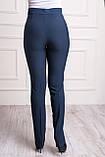 Классические женские брюки синего цвета, фото 4