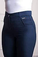 Классические женские брюки синего цвета , фото 1