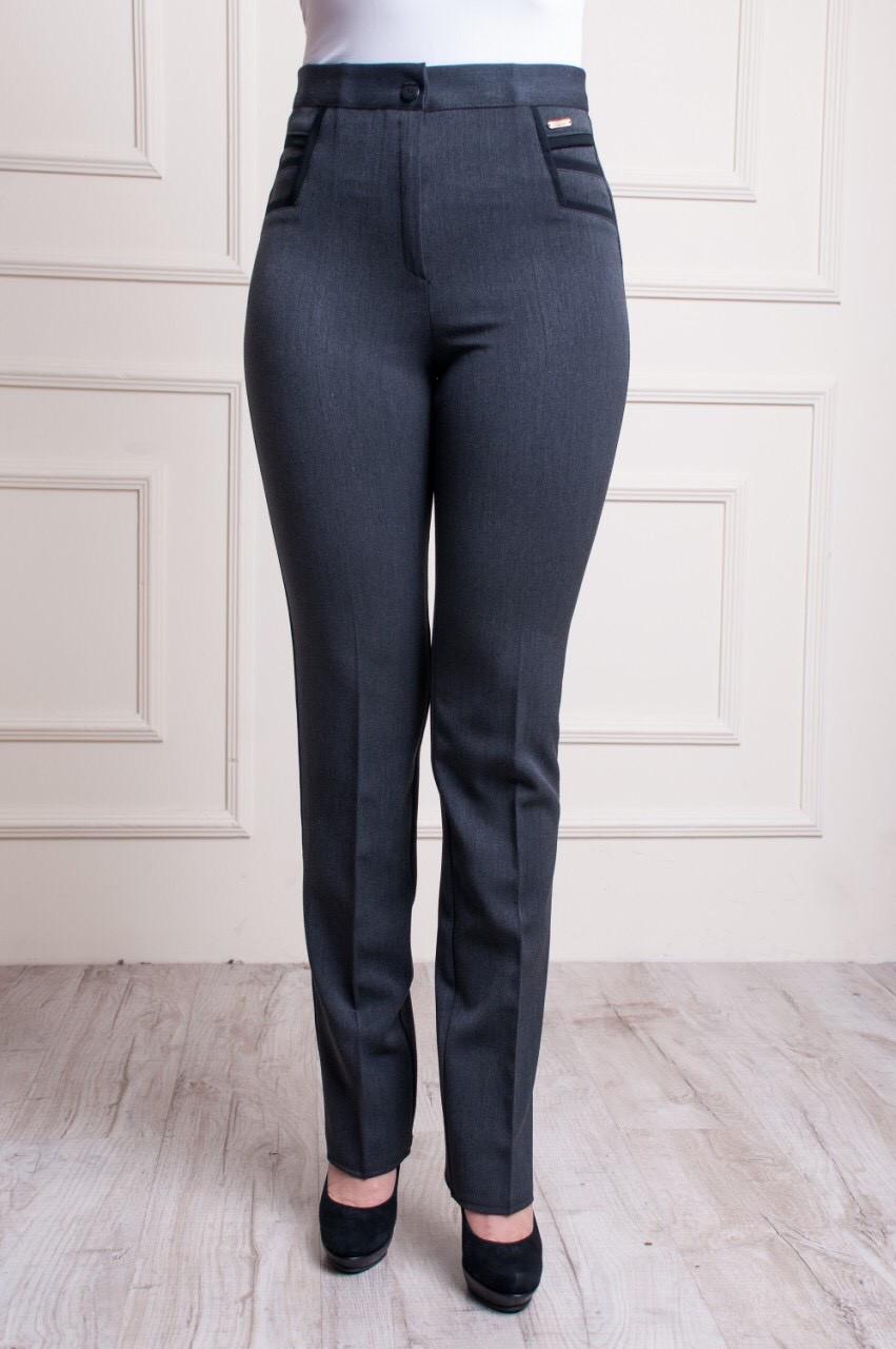 Классические женские брюки серого цвета