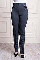 Классические женские брюки серого цвета , фото 1