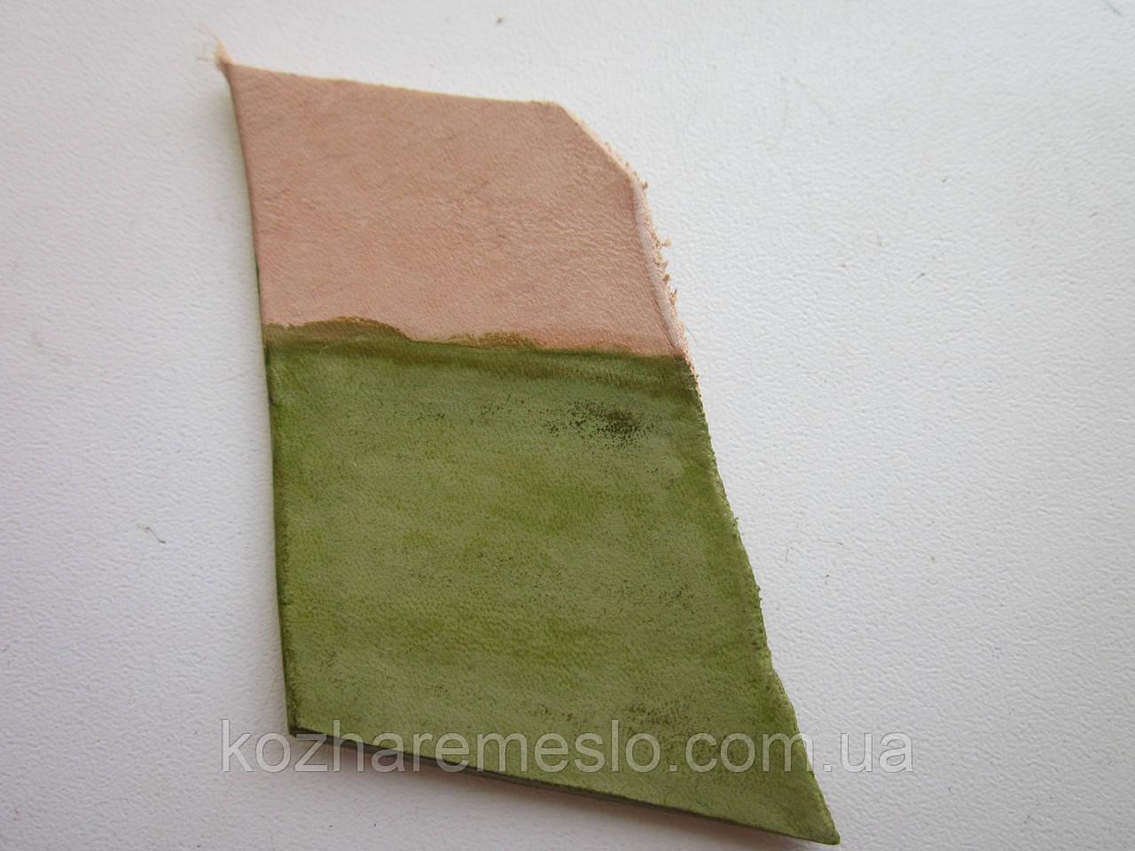 Краска для кожи WATERSTAIN Fenice на водной основе 200 мл зелёная светлая (Италия)