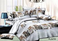 Комплект постельного белья с котиками  полуторный 100% хлопок