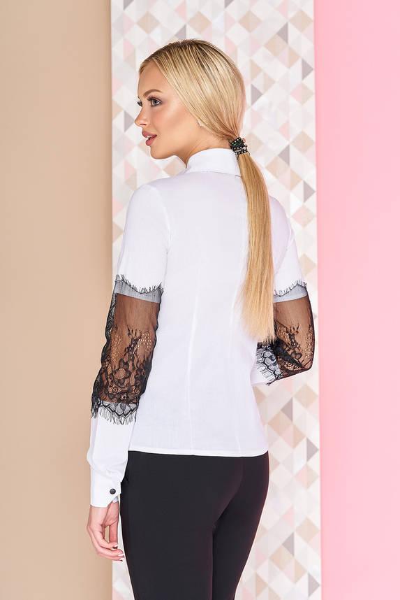 Нарядная белая женская блузка с гипюром, фото 2